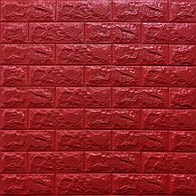 Декоративная 3D панель стеновая самоклеющаяся под кирпич КРАСНЫЙ 700х770х7мм (в упаковке 10 шт)