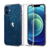 Силиконовый чехол Brilliant для iPhone 12 / 12 Pro с блестками