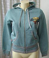 Кофта женская нарядная хлопок трикотаж капюшон бренд 10 Feet р.42-44 4651, фото 1