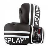 Боксерські рукавиці PowerPlay 3010 Чорно-Білі 8 унцій SKL24-143649, фото 7