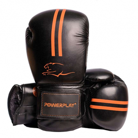Боксерські рукавиці PowerPlay 3016 Чорно-Оранжеві 8 унцій SKL24-143716