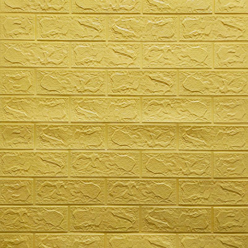 Самоклеюча декоративна 3D панель Цегла Бежевий 700х770х5мм Os-BG09-5