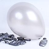 """Повітряна куля надувний срібло металік 5"""" (13 см) Gemar 50-38 1958, фото 2"""