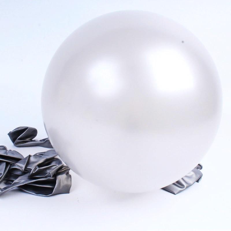 """Воздушный надувной шар серебро металлик 5"""" (13 см) Gemar 50-38 1958"""