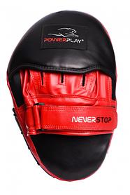 Лапи боксерські PowerPlay 3051 Чорно-Червоні PU, пара SKL24-143740