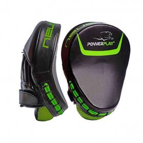 Лапи боксерські PowerPlay 3041 Чорно-Зелені PU, пара SKL24-143745