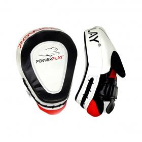 Лапи боксерські PowerPlay 3042 Чорно-Білі PU, пара SKL24-143749