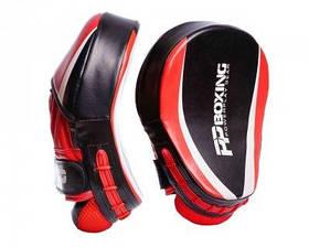 Лапи боксерські PowerPlay 3050 Чорно-Червоні PU, пара SKL24-143750