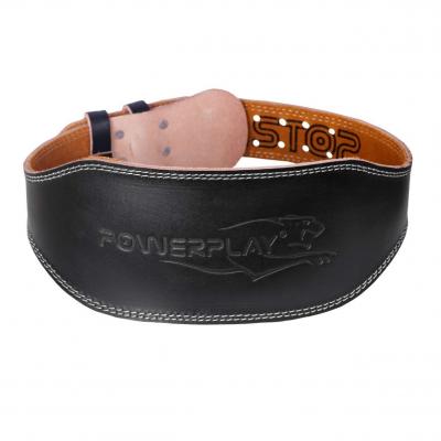 Пояс для важкої атлетики PowerPlay 5086 Чорно-Коричневий XS SKL24-143788