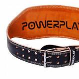 Пояс для важкої атлетики PowerPlay 5086 Чорно-Коричневий XS SKL24-143788, фото 5