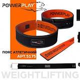 Пояс для важкої атлетики PowerPlay 5175 Чорно-Оранжевий XS SKL24-143796, фото 7