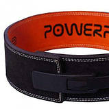 Пояс для важкої атлетики PowerPlay 5175 Чорно-Оранжевий XS SKL24-143796, фото 8