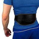 Пояс для важкої атлетики PowerPlay 5086 Чорно-Коричневий S SKL24-143949, фото 2