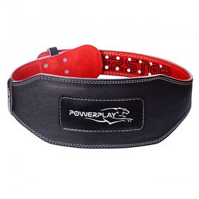 Пояс для важкої атлетики PowerPlay 5053 Чорно-Червоний S SKL24-143953