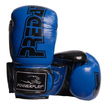 Боксерські рукавиці PowerPlay 3017 Сині карбон 14 унцій SKL24-144016