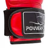 Боксерські рукавиці PowerPlay 3017 Червоні карбон 16 унцій SKL24-144019, фото 7