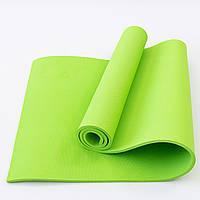Коврик для йоги и фитнеса EVA (йога мат, каремат спортивный) OSPORT Mat Lite 1см (OF-0087) Зеленый