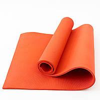 Коврик для йоги и фитнеса EVA (йога мат, каремат спортивный) OSPORT Mat Lite 1см (OF-0087) Красный