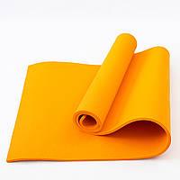 Коврик для йоги и фитнеса EVA (йога мат, каремат спортивный) OSPORT Mat Lite 1см (OF-0087) Оранжевый