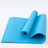 Коврик для йоги и фитнеса EVA (йога мат, каремат спортивный) OSPORT Mat Lite 1см (OF-0087) Синий