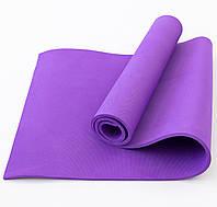 Коврик для йоги и фитнеса EVA (йога мат, каремат спортивный) OSPORT Mat Lite 1см (OF-0087) Фиолетовый