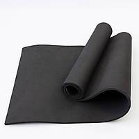 Коврик для йоги и фитнеса EVA (йога мат, каремат спортивный) OSPORT Mat Lite 1см (OF-0087) Черный