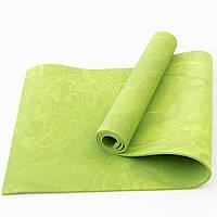 Коврик для йоги и фитнеса PER (йога мат, каремат спортивный) OSPORT Yoga ECO Pro 8мм (OF-0086) Зеленый