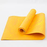 Коврик для йоги и фитнеса PER (йога мат, каремат спортивный) OSPORT Yoga ECO Pro 8мм (OF-0086) Оранжевый