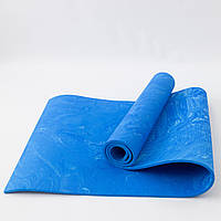 Коврик для йоги и фитнеса PER (йога мат, каремат спортивный) OSPORT Yoga ECO Pro 8мм (OF-0086) Синий