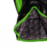 Боксерські рукавиці PowerPlay 3018 Чорно-Зелені 12 унцій SKL24-144030, фото 4
