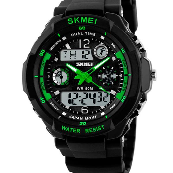 Skmei Мужские спортивные кварцевые часы Skmei S-Shock Green 0931