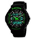 Skmei Мужские спортивные кварцевые часы Skmei S-Shock Green 0931, фото 2