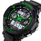 Skmei Мужские спортивные кварцевые часы Skmei S-Shock Green 0931, фото 3