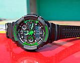 Skmei Мужские спортивные кварцевые часы Skmei S-Shock Green 0931, фото 7