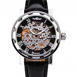 Winner Мужские классические механические часы Winner Black 1107, фото 2