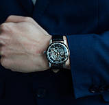 Winner Мужские классические механические часы Winner Black 1107, фото 4