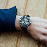 Winner Мужские классические механические часы Winner Black 1107, фото 5