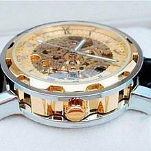 Winner Чоловічі класичні механічні годинники c автопідзаводом Winner Simple Gold 1106