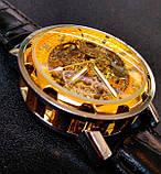 Winner Чоловічі класичні механічні годинники c автопідзаводом Winner Simple Gold 1106, фото 2