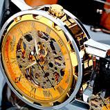 Winner Мужские классические механические часы c автоподзаводом Winner Simple Gold 1106, фото 3