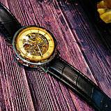 Winner Чоловічі класичні механічні годинники c автопідзаводом Winner Simple Gold 1106, фото 4