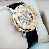 Winner Мужские классические механические часы c автоподзаводом Winner Simple Gold 1106, фото 5