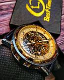 Winner Мужские классические механические часы c автоподзаводом Winner Simple Gold 1106, фото 7