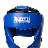 Боксерський шолом PowerPlay турнірний 3049 Синій M SKL24-144083, фото 3