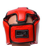 Боксерський шолом PowerPlay турнірний 3049 Червоний M SKL24-144086, фото 4
