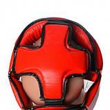 Боксерський шолом PowerPlay турнірний 3049 Червоний M SKL24-144086, фото 5