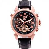 Jaragar Чоловічі класичні механічні годинники Jaragar Turboulion 1007 з автопідзаводом і датою, фото 2