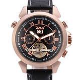Jaragar Чоловічі класичні механічні годинники Jaragar Turboulion 1007 з автопідзаводом і датою, фото 3