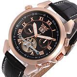 Jaragar Чоловічі класичні механічні годинники Jaragar Turboulion 1007 з автопідзаводом і датою, фото 4