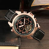 Jaragar Чоловічі класичні механічні годинники Jaragar Turboulion 1007 з автопідзаводом і датою, фото 6